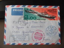 TAAF Lettre Marion Dufresne Cachet Courrier Posté En Mer - Interpole - Groenland Nansen Fjord - Franse Zuidelijke En Antarctische Gebieden (TAAF)