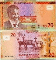 NAMIBIA       20 Dollars       P-17       2015       UNC - Namibie