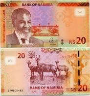 NAMIBIA       20 Dollars       P-17       2015       UNC - Namibia