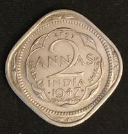 INDE - INDIA - 2 ANNAS 1947 - George VI - KM 542 - Indien
