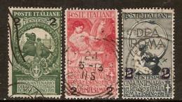 """(Fb).Regno.V.E.III.1913.""""Cinquantenario"""" Soprastampati.Serie 3 Val Usati (109-19) - 1900-44 Victor Emmanuel III."""