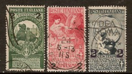 "(Fb).Regno.V.E.III.1913.""Cinquantenario"" Soprastampati.Serie 3 Val Usati (109-19) - 1900-44 Vittorio Emanuele III"