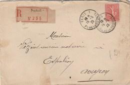 SEMEUSE LIGNEE 85C SUR LR PARIS 15/5/25 POUR ESPALION AVEYRON - 1921-1960: Periodo Moderno