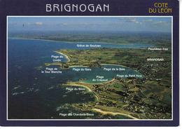 29 Côte Du Leon BRIGNOGAN Vue Aérienne En 1998 Plages Lividic Bilou Garo Crapaud - Brignogan-Plage