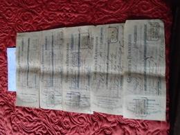 1910-CANTAL NEUSSARGUES/MURAT Pour Decazeville -AVEYRON) -*5 MANDATS Avec  8 TP/Effets De COMMERCES - Fiscali