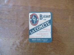 BIERE DE LA COMETE USINES & CAVES CHALONS S/ MARNE DOUAY-LELEU ENTREPOSITAIRE 37 RUE DE LA BRASSERIE A CHAUNY - Bier
