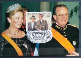 BELGIQUE                     CARTE ALBERT II Et PAOLA - Belgique
