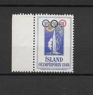 Islande Vignette JO 48 ** - Summer 1948: London