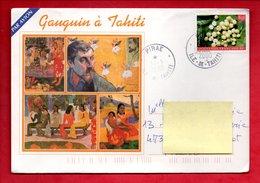 """LETTRE . Polynésie Française . """" Gauguin à Tahiti """" - Ref. N°190F - - Marcophilie (Lettres)"""