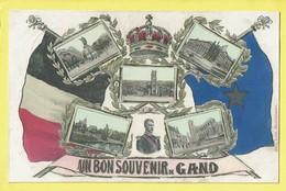 * Gent - Gand (Oost Vlaanderen) * (Edit Libr. Dobbelaere - M. Marcovici) Un Bon Souvenir De Gand, Roi Albert, TOP - Gent