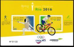 Costa Rica 2016 Rio De Janeiro Olympic Games Souvenir Sheet MNH/** (H35) - Sommer 2016: Rio De Janeiro