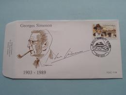 GEORGES SIMENON 1903-1989 ( Stamp 15-10-1994 Geel > Zie Foto Voor Detail ) F.D.C. P 1116 / Campo-Rodan ! - 1991-00