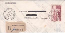 Algérie LR Alger 17/05/56 / YT 327 Pour Hussein Dey - Algeria (1924-1962)