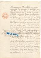 Acte Pachtcontract Graaf De Merode Westerlo - Bernard Van De Velde Moerkerke - Land Te Moerkerke - 1892 - Vieux Papiers