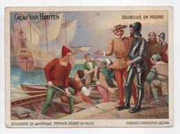 - CHROMO CACAO VAN HOUTEN - CHRISTOPHE COLOMB - - Van Houten