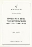 MONACO MENU DINER DE GALA EXPO PHILATHELIQUE MONACO 14 Fevrier 1999 - Monaco