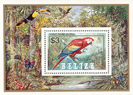 MDB-BK1-159 MINT ¤ BELIZE 1984 BLOCK ¤ ANIMALS - OISEAUX - BIRDS - PAJAROS - VOGELS - VÖGEL - - Birds