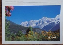 Petit Calendrier De Poche 2004 La Poste Balcon Sur Le Mont Blanc - Calendars
