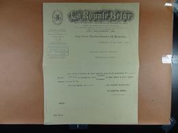 La Royale Belge Assurances Bruxelles 1931 - Bank & Insurance