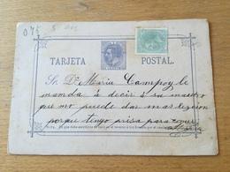 FL3603 Spanien Ganzsache Stationery Entier Postal P 7I - 1850-1931