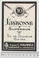 Unused And Rare Vintage Label Of Lisbonne Supérieur Vin De Liqueur Ginjinha Or Liqueur De Ginja, Portugal - Whisky
