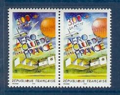 N° 3172 AEROCLUB VARIETE TACHE BLANCHE SOUS LA FACIALE TENANT A NORMAL ** - Variétés Et Curiosités
