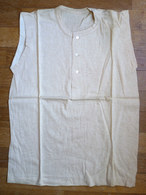 CHEMISE Sans Manche Débardeur EN COTON ECRU Années 40-50 (2) - Vintage Clothes & Linen