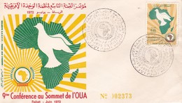Maroc FDC YT 640 Conférence O.U.A. Casablanca 12/06/72 - Maroc (1956-...)