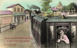 JE PARS DE SAINTE MENEHOULD ET VOUS ENVOIE MES AMITIES - Sainte-Menehould