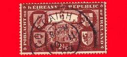 IRLANDA - Usato - 1949 - Riconoscimento Internazionale Della Repubblica -  Stemmi Araldici - 2 ½ P - 1949-... Repubblica D'Irlanda