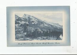BANFF HOTEL AND MOUNT RUNDLE , BANFF CANADIAN ROCKIES - Banff