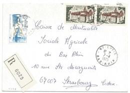 H428 - BAS RHIN - EPFIG - 1975 - ROND Avec CODE POSTAL 67 - Recommandé - - Marcophilie (Lettres)