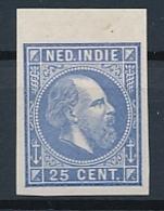 Nederlands Indië - 1868 - 25 Cent Willem III, Proef 15e - Ultramarijn - Niederländisch-Indien