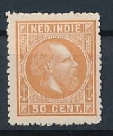Nederlands Indië - 1868 - 50 Cent Willem III, Proef 22d - Lichtbruin - Niederländisch-Indien