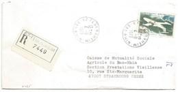 H435 - BAS RHIN - FEGERSHEIM - 1973 - ROND Avec CODE POSTAL 67 - Recommandé - - Marcophilie (Lettres)