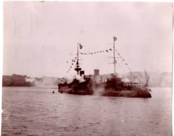 VILLEFRANCHE SUR MER  C.1900 Photo - Navire De Guerre - Lieux