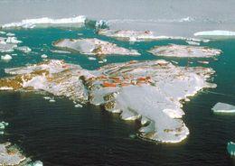 6 AK Antarctica Antarktis * Forschungsstationen Dumont D'Urville Frankreich Und Mario Zuchelli Italien Und Landschaften - Cartoline