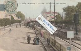 LAGNY -THORIGNY : La Gare,Train,Débarcadére Coté De Paris,animée,Couleur. - Lagny Sur Marne