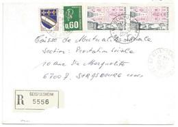 H441 - BAS RHIN - GEISPOLSHEIM - 1975 - ROND Avec CODE POSTAL 67 - Recommandé - - Marcophilie (Lettres)