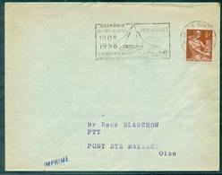 FRANCE Flamme CHAMONIX 1958 Cinquantenaire Train Du Montenvers TB - Sellados Mecánicos (Publicitario)