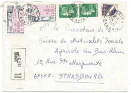 H451 - BAS RHIN - GRIES - 1975 - ROND Avec CODE POSTAL 67 - Recommandé - - Marcophilie (Lettres)