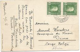 SH 0468. AUTRICHE HONGRIE. POSTES DE CAMPAGNE. Yv. 25 (2) DERVENTA 10.5.14 S/CP V. DIMA (CONGO BELGE) - 1850-1918 Impero