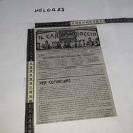 RT1287 ROMA 1909 IL CARROCCIO UN NUMERO DEL GIORNALE PRENAZIONALISTA - Victorian Die-cuts