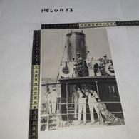 RT1289 IL RE VITTORIO EMANUELE III SUL PONTE DELL'ARCHIMEDE A NAPOLI NEL 1924 - Victorian Die-cuts