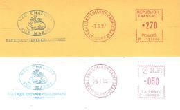 """:1997 / 2005 Deux EMA """"Nautique Entente Chalonnaise"""" Club D'Aviron (n° P 123686:  En Franc Et En Euros) - Aviron"""