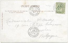 SH 0469. N° 106 Obl. MARITIME BELGE PAQUEBOTS BELGES/OSTENDE-DOUVRES 20 AOÛT 07 S/CP Vers BRUXELLES. TB - 1902-1951 (Kings)