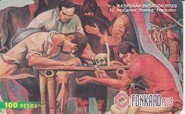 TARJETA DE FILIPINAS DE PINTURA 100 PESOS -  FONKARD PLUS - Philippines