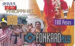 TARJETA DE FILIPINAS DE COLORFULS FESTIVAL 100 PESOS -  FONKARD PLUS - Philippines