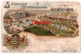 GERMANY DEUTSCHLAND 1899 UDB GRUSS AUS LITHO LEIPZIG HOTEL GRUNER BAUM Ab664 - Leipzig