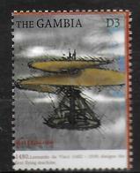 GAMBIE   N° 2955  * *  Millennium Leonard De Vinci Avions - Avions